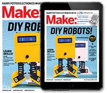 Make: magazine cover issue 55, subscribe here